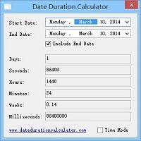 screenshot for date mode